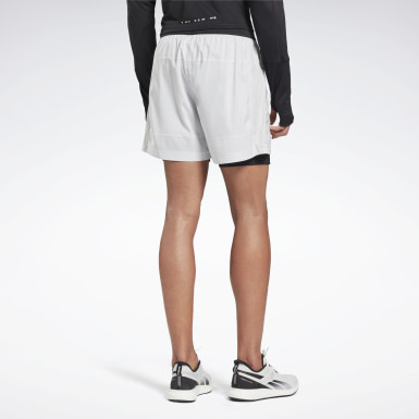 Short 2 en 1 Running Essentials Blanc Hommes Trail Running