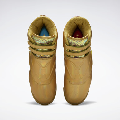 Kvinder Classics Gold Freestyle Hi Shoes