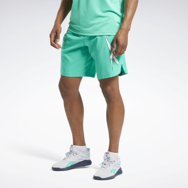 Men Training Turquoise Workout Ready Shorts