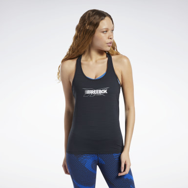 Women Yoga Black ACTIVCHILL Graphic Tank Top