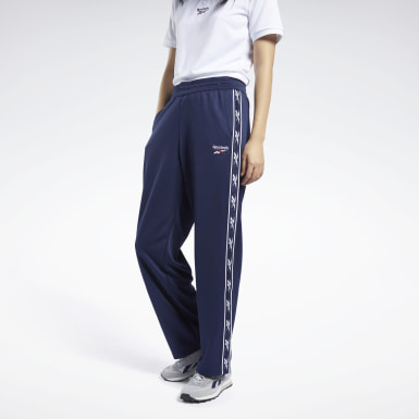 Women Classics Blue Classics Vector Tape Pants