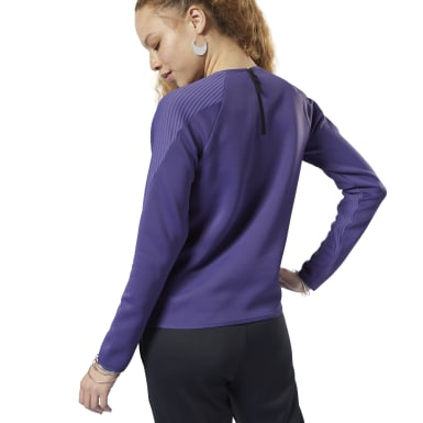 Women Fitness & Training Purple Thermowarm Deltapeak Crew