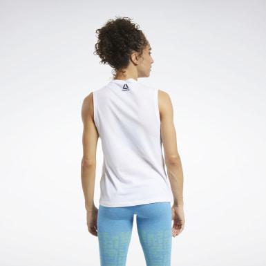 Camiseta sin mangas CrossFit® Games Crest Blanco Mujer Cross Training