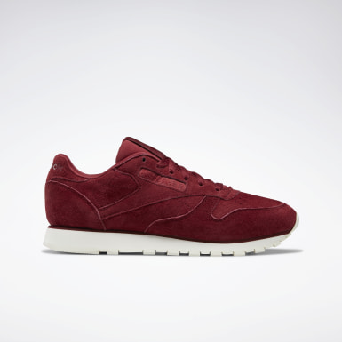 Women Classics Burgundy Classic Leather Shoes