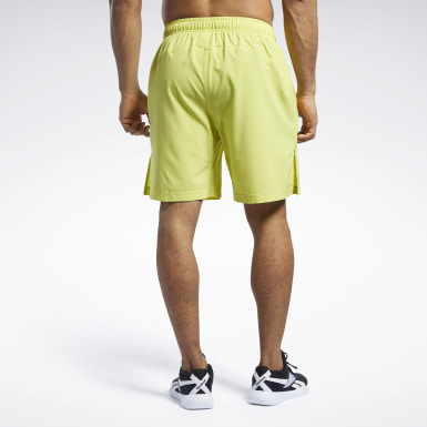 Mænd Cross Training Yellow Reebok CrossFit® Austin II Solid Shorts
