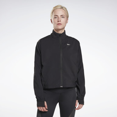 Women Hiking Black Running Essentials Windbreaker
