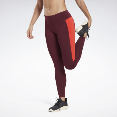 Women Running Burgundy Running Essentials Tights