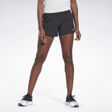 Women Studio Black LES MILLS® 4-Inch Epic Shorts