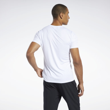 Men Yoga White Workout Ready Tee