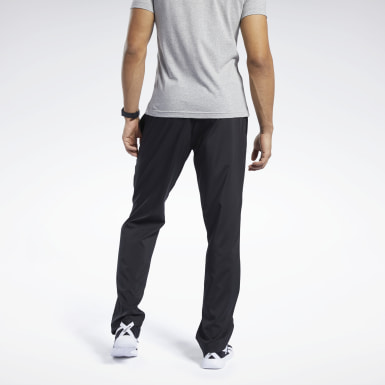Men Montanhismo Black Training Essentials Woven Unlined Pants