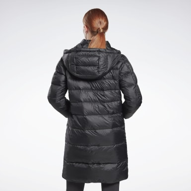 Women Outdoor Black Outerwear Core Long Down Jacket