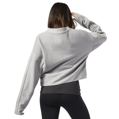 Women Training Grey Training Essentials Sweatshirt