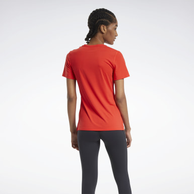 Women Cycling Red ACTIVCHILL Athletic Tee