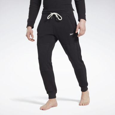 Men Fitness & Training Black Combat Waffle Joggers