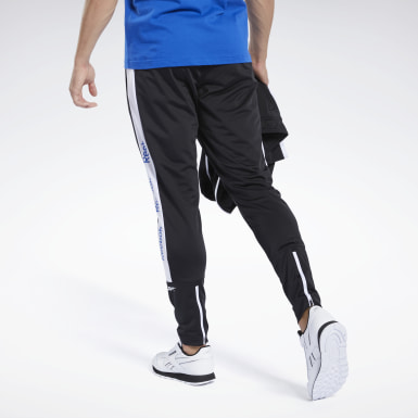 Men Training Black Training Essentials Linear Logo Track Pants