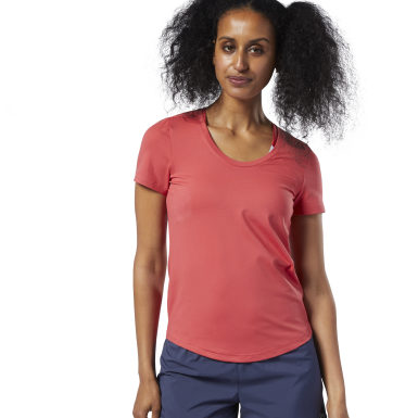 Camiseta Workout Ready Speedwick Rojo Mujer Fitness & Training
