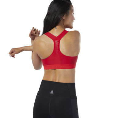 Women Studio Red Reebok LES MILLS® PureMove Bra