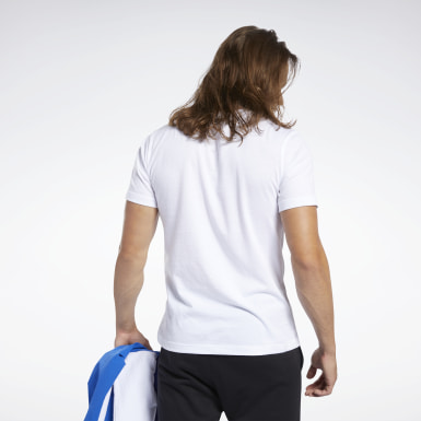 Polo Training Essentials Linear Logo Blanco Hombre Entrenamiento Funcional