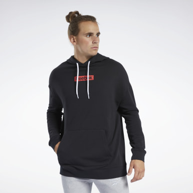 Hoodie Training Essentials Linear Logo Negro Hombre Fitness & Training
