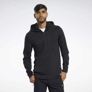 Men Fitness & Training Black Training Supply Control Hoodie