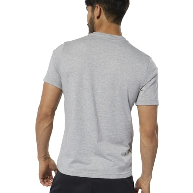 Polo Reebok Stacked Plomo Hombre Fitness & Training