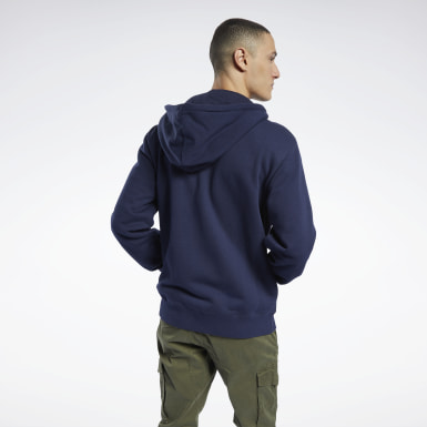 Men Classics Blue Classics Vector Full-Zip Hoodie