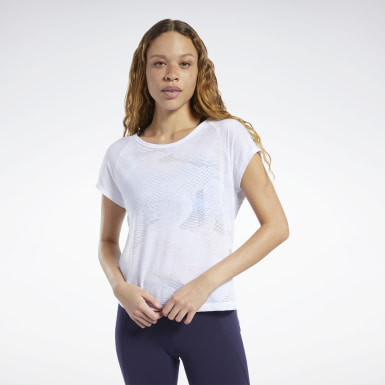 Women Training White Burnout Tee