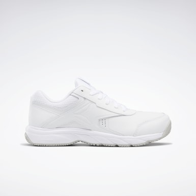 Men Walking White Reebok Work N Cushion 3 4E Men's Shoes