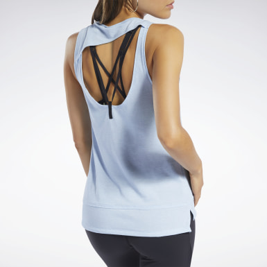 Women Fitness & Training Blue ACTIVCHILL+COTTON Tank Top