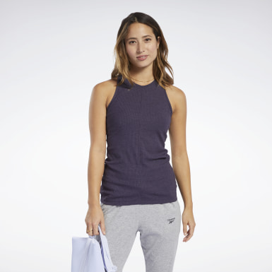 Women Yoga Purple Training Essentials Tank Top