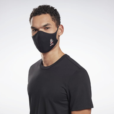 Fitness & Training Icons Face Cover M/L 3er-Pack Schwarz
