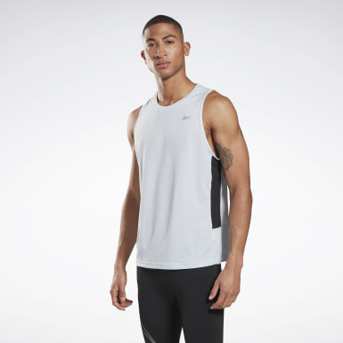 Men Trail Running Blue Running Essentials Singlet