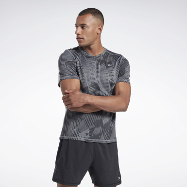 Camiseta One Series Running Jacquard Gris Hombre Correr