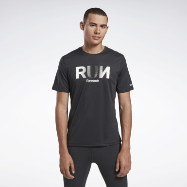 Herr Löpning Svart Running Essentials Graphic Tee