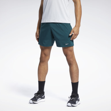 Men Running Green Running Essentials 7-Inch Woven Shorts