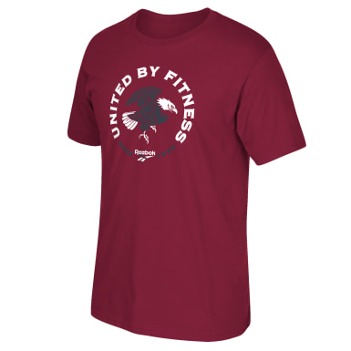 Men Training Burgundy United By Fitness Tee