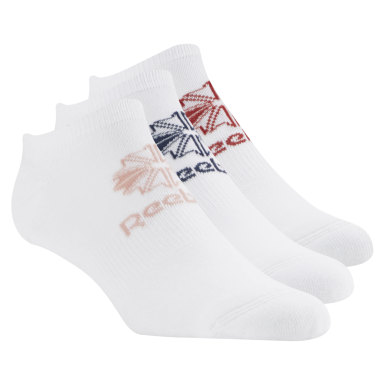 Classics Classics Foundation Unisex No Show Socks – 3er-Pack Weiß