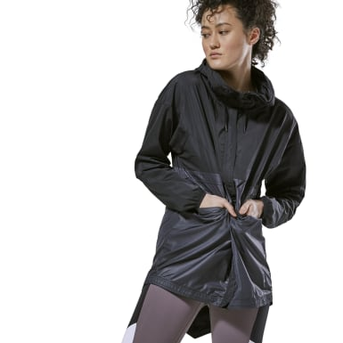 Women Studio Black Training Supply Jacket