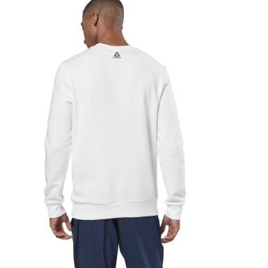 Men Fitness & Training White Training Essentials Linear Logo Sweatshirt