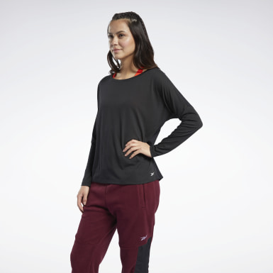 T-shirt Workout Ready Supremium Long Sleeve Nero Donna Hiking