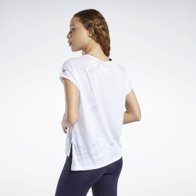 T-shirt Burnout Bianco Donna Yoga
