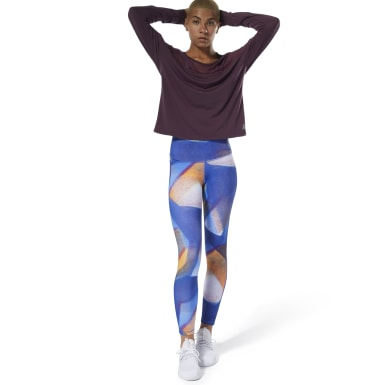 Women Studio Blue Yoga Lux Bold High-Rise Tights