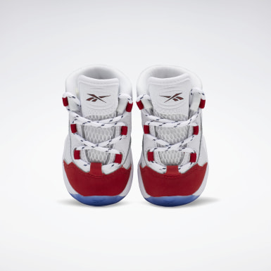 Boys Classics White Question Mid Shoes - Toddler
