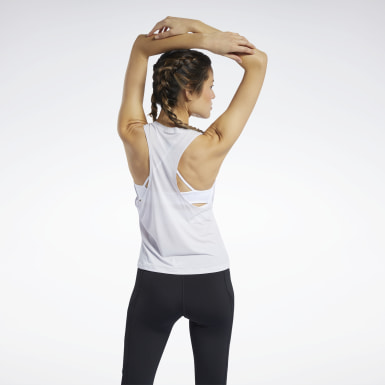 Women Cycling White Workout Ready ACTIVCHILL Tank Top