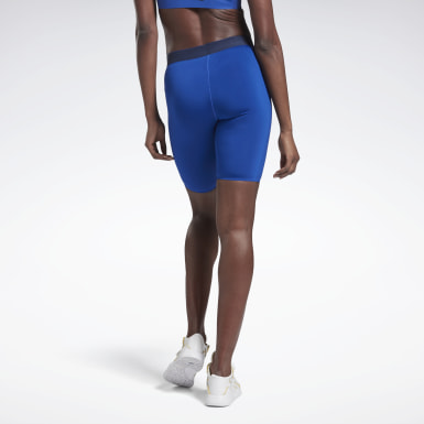 Women Fitness & Training Blue VB Cycling Shorts