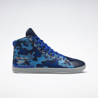 Men Training Blue Reebok Power Lite Mid Men's Shoes