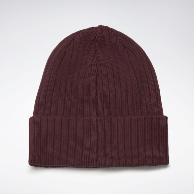 Running Burgundy Active Foundation Logo Beanie
