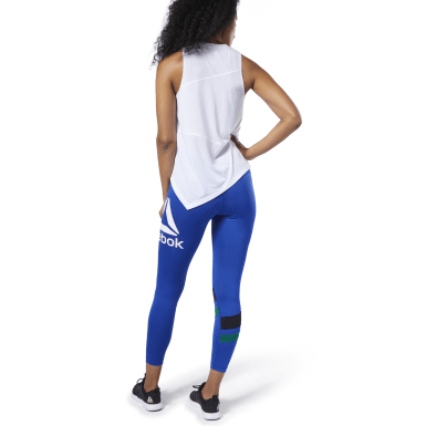 Women Training Blue Workout Ready Big Delta Tights