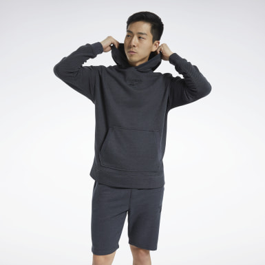 Men Training Black Training Essentials Mélange Hoodie
