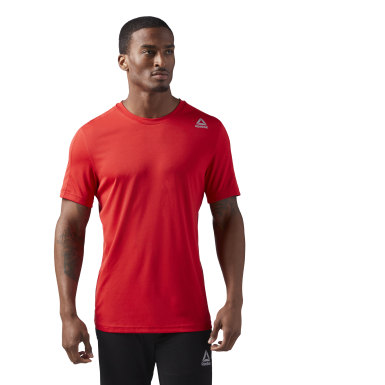 WOR COMM SS TECH TOP Rojo Hombre Fitness & Training